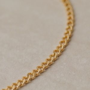 Tribeca Curb Necklace | 18k Gold Filled